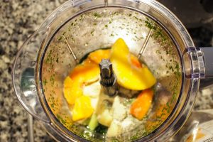 Peaches in Smoothie, Green Smoothies