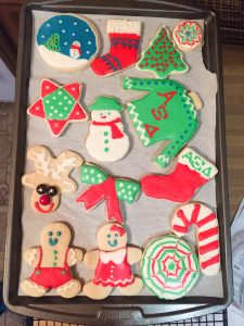 Decorated Sugar Cookies on a Tray, Sugar Cookie